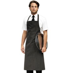 Striped bib apron Thumbnail