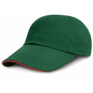 Low-profile heavy brushed cotton cap with sandwich peak Thumbnail
