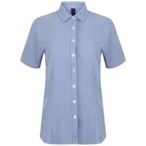 Women's gingham Pufy wicking short sleeve shirt Thumbnail